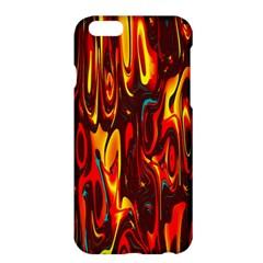 Effect Pattern Brush Red Orange Apple Iphone 6 Plus/6s Plus Hardshell Case
