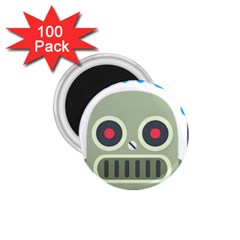Robot 1 75  Magnets (100 Pack)  by BestEmojis