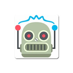 Robot Square Magnet by BestEmojis