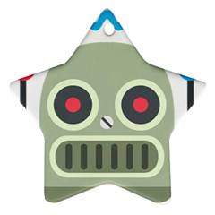 Robot Star Ornament (two Sides) by BestEmojis