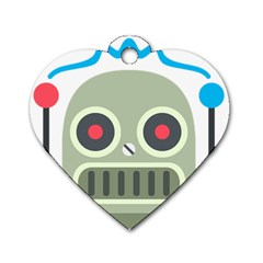 Robot Dog Tag Heart (one Side) by BestEmojis