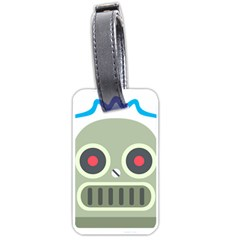 Robot Luggage Tags (one Side)  by BestEmojis