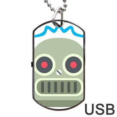 Robot Dog Tag Usb Flash (two Sides) by BestEmojis