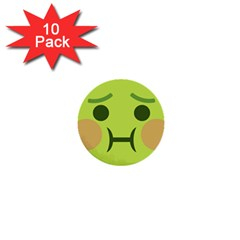 Barf 1  Mini Buttons (10 Pack)  by BestEmojis
