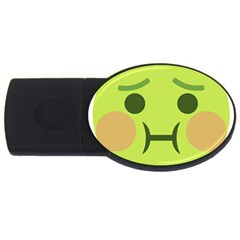 Barf Usb Flash Drive Oval (2 Gb) by BestEmojis