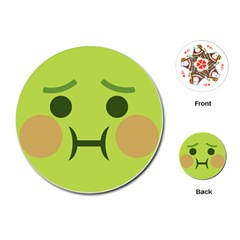 Barf Playing Cards (round)  by BestEmojis