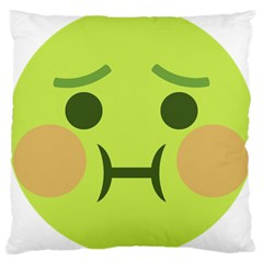Barf Large Cushion Case (one Side) by BestEmojis