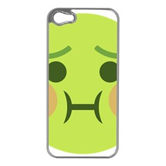 Barf Apple Iphone 5 Case (silver) by BestEmojis