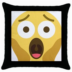 Scream Emoji Throw Pillow Case (black) by BestEmojis