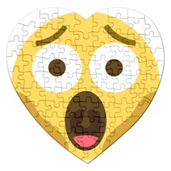 Scream Emoji Jigsaw Puzzle (heart)