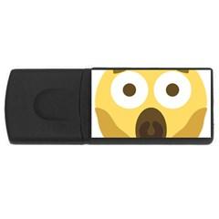 Scream Emoji Usb Flash Drive Rectangular (4 Gb) by BestEmojis