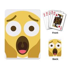 Scream Emoji Playing Card by BestEmojis