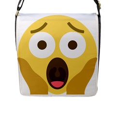 Scream Emoji Flap Messenger Bag (l)  by BestEmojis