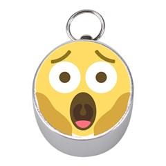 Scream Emoji Mini Silver Compasses by BestEmojis