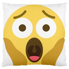 Scream Emoji Large Flano Cushion Case (one Side) by BestEmojis
