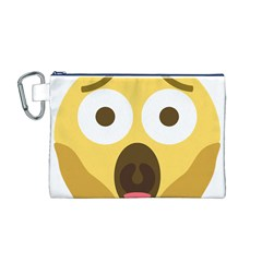 Scream Emoji Canvas Cosmetic Bag (m) by BestEmojis