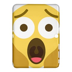 Scream Emoji Samsung Galaxy Tab 4 (10 1 ) Hardshell Case  by BestEmojis