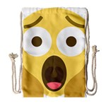 Scream Emoji Drawstring Bag (Large) Front