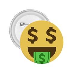 Money Face Emoji 2 25  Buttons by BestEmojis