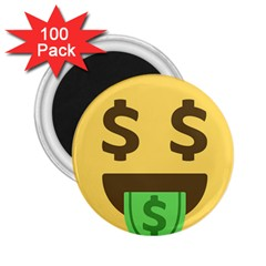 Money Face Emoji 2 25  Magnets (100 Pack)  by BestEmojis