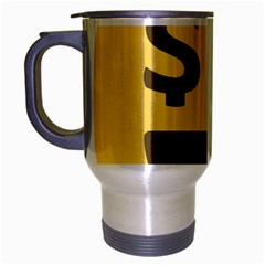 Money Face Emoji Travel Mug (silver Gray) by BestEmojis