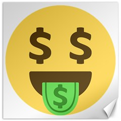 Money Face Emoji Canvas 12  X 12   by BestEmojis