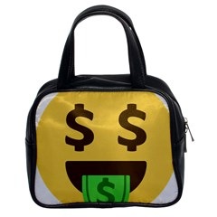 Money Face Emoji Classic Handbags (2 Sides) by BestEmojis