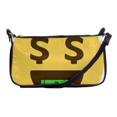 Money Face Emoji Shoulder Clutch Bags by BestEmojis