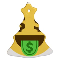 Money Face Emoji Christmas Tree Ornament (two Sides) by BestEmojis