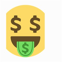Money Face Emoji Small Garden Flag (two Sides) by BestEmojis