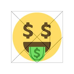Money Face Emoji Acrylic Tangram Puzzle (4  X 4 ) by BestEmojis