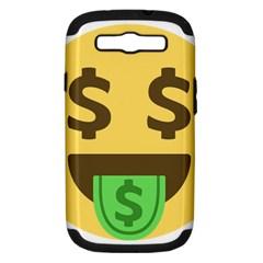 Money Face Emoji Samsung Galaxy S Iii Hardshell Case (pc+silicone) by BestEmojis