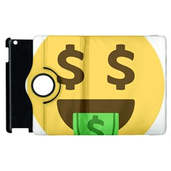 Money Face Emoji Apple Ipad 3/4 Flip 360 Case by BestEmojis