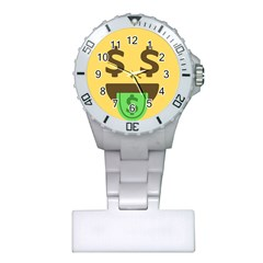 Money Face Emoji Plastic Nurses Watch by BestEmojis