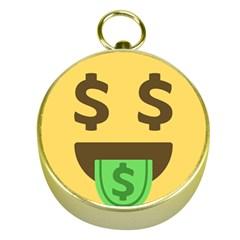 Money Face Emoji Gold Compasses by BestEmojis