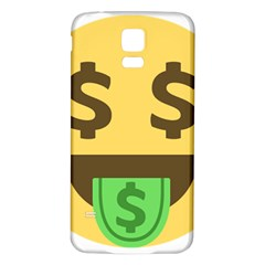 Money Face Emoji Samsung Galaxy S5 Back Case (white) by BestEmojis