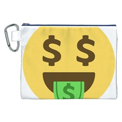 Money Face Emoji Canvas Cosmetic Bag (xxl) by BestEmojis