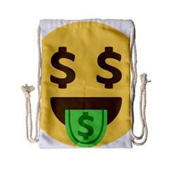 Money Face Emoji Drawstring Bag (small) by BestEmojis