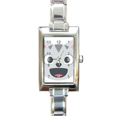 Cat Smile Rectangle Italian Charm Watch by BestEmojis