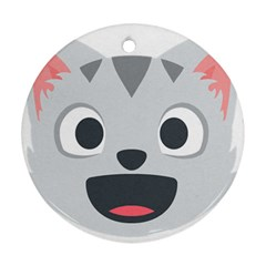 Cat Smile Ornament (round) by BestEmojis