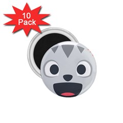 Cat Smile 1 75  Magnets (10 Pack)  by BestEmojis