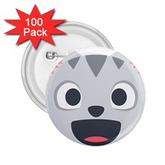 Cat Smile 2 25  Buttons (100 Pack)  by BestEmojis