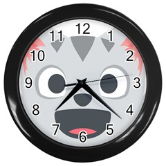 Cat Smile Wall Clocks (black) by BestEmojis