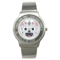 Cat Smile Stainless Steel Watch by BestEmojis