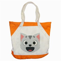 Cat Smile Accent Tote Bag by BestEmojis
