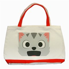 Cat Smile Classic Tote Bag (red) by BestEmojis