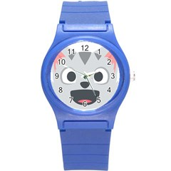 Cat Smile Round Plastic Sport Watch (s) by BestEmojis