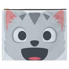 Cat Smile Cosmetic Bag (xxxl)  by BestEmojis