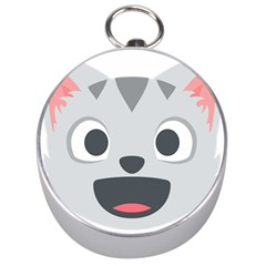 Cat Smile Silver Compasses by BestEmojis