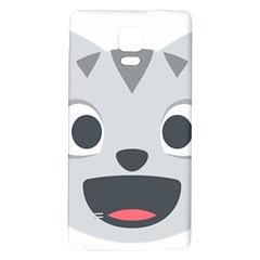 Cat Smile Galaxy Note 4 Back Case by BestEmojis